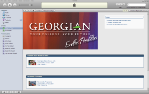 iTunes U at Georgian College